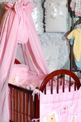 pink bassinet