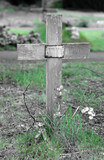 simple wooden cross poster