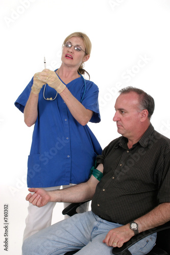 poster of nurse giving shot to patient 1