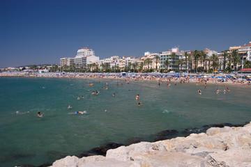 sitges beach landscape