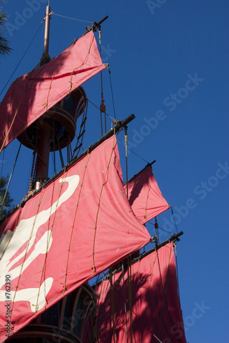 close up on a pirate ship