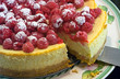 raspberry and lemon cheesecake