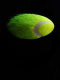 tennis ball in flight poster