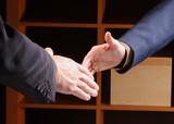 main d hommes d affaires poster