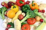 vegetables and fruits arrangement poster