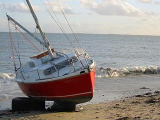 bateau sur cales à carnac