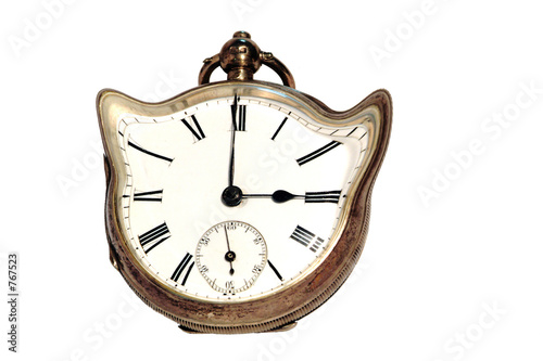 old distorted clock
