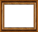 Fototapety antique rustic dark golden picture frame isolated