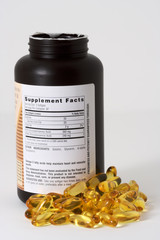 fish oil and bottle