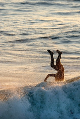 surfing wipe-out