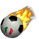 world cup soccer/football - italy on fire poster