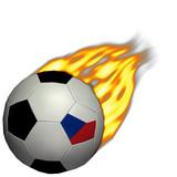 world cup soccer/football - czech republic on fire poster