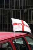 england car flag poster