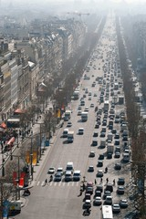 view of champs elysées from the top of triumph arc