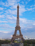 eiffel tower in afternoon, paris, france poster