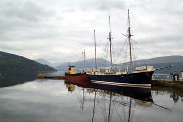 boat in scottish loch