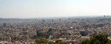panorama view of barcelona, spain poster