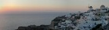 oia sunset, santorini, greece poster