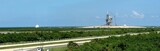 panorama view of launch stations, cape canaveral poster