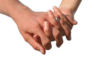 je te tiens par la main