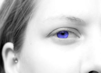 high-key blue eye