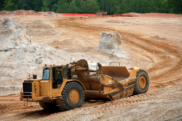 earth moving construction vehicle