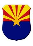 arizona flagge symbol poster