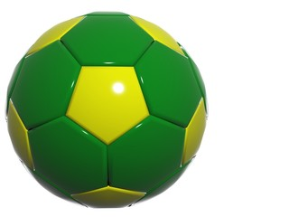 green yellow soccer football design brazil