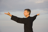 tai chi - posture step back dispatch monkey poster