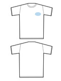 hand drawn blank t- shirts poster