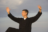 tai chi - posture kick with right heel poster