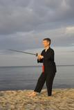 tai chi - posture waiting for fish poster