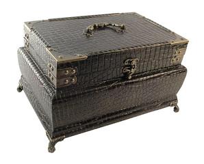 leather antique storage box