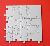 part of a jigsaw in form of a square poster