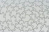 complete grey jigsaw poster