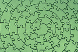 complete green jigsaw poster