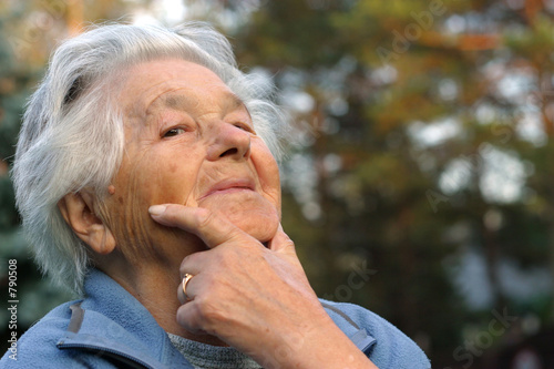 elderly smiling