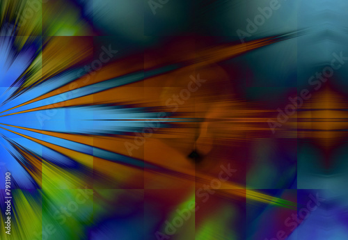 poster of colorful rays of light background