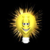bright ideas smiley poster