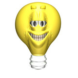 bright ideas smiley 2 poster