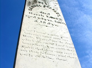 burial monument in dartmouth, massachusetts