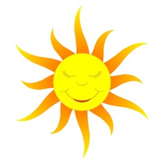 cartoon sun (gradient color)