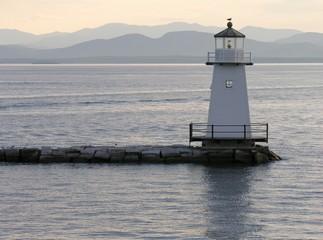 lighthouse on lake champlain.