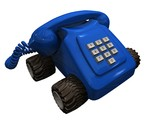 telephone blue poster