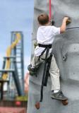 boy climbing poster