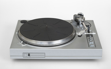 stylish vinyl record player - turntable (with clip
