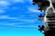 blue sky & lightning - puzzle