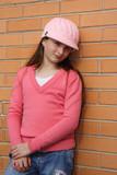 girl wearing beanie poster