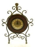 metal-wood clock