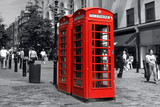 red phonebooth in london poster